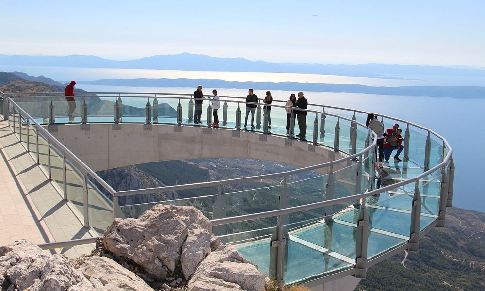 Skywalk Biokovo: schöner Blick auf Dalmatien